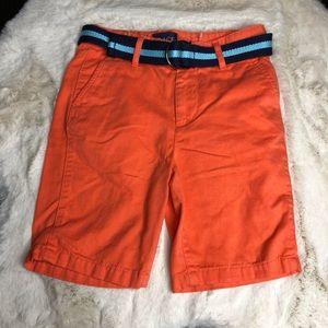 NWOT orange size 6 shorts adjustable waist belt